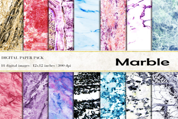 Marble Digital Papers Graphic Backgrounds By BonaDesigns