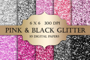 Pink and Black Glitter Textures Graphic Textures By ItGirlDigital