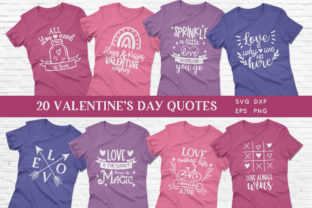 Valentine's Day Quotes Svg Bundle Graphic Crafts By peachycottoncandy