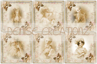 6 X Vintage Cards Graphic Crafts By Denise Creationz