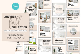 Print on Demand: Another Fall Collection Canva Instagram Graphic Presentation Templates By SnapyBiz