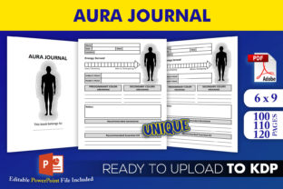 Print on Demand: Aura Energy Healing Journal KDP Interior Graphic KDP Interiors By Beast Designer