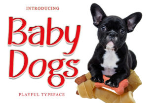 Print on Demand: Baby Dogs Display Font By dazzlinggleam