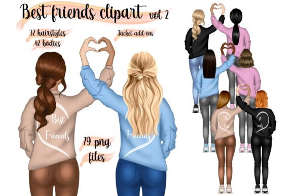 Best Friends Vol.2 Clipart Graphic Illustrations By elevenbyme