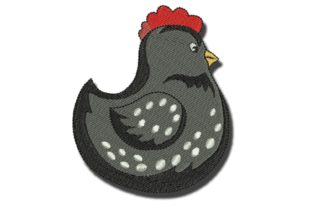 Black Chicken Birds Embroidery Design By BabyNucci Embroidery Designs