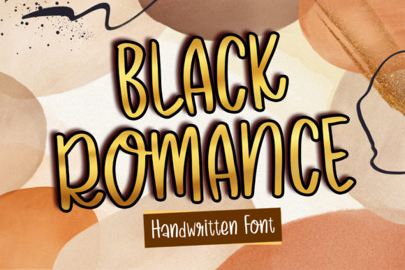 Print on Demand: Black Romance Script & Handwritten Font By boogaletter