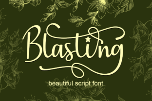 Print on Demand: Blasting Script & Handwritten Font By Supersemar Letter