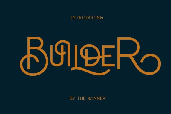 Print on Demand: Builder Display Font By The1stWinner