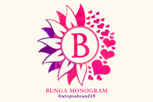 Print on Demand: Bunga Monogram Decorative Font By utopiabrand19