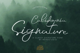 Print on Demand: California Signature Script & Handwritten Font By Nerdstudio