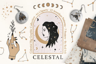 Print on Demand: Celestial Clipart & Pattern Magic Pack Graphic Illustrations By Red Ink