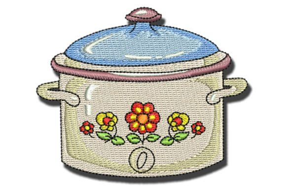 Crook Pot Food & Dining Embroidery Design By BabyNucci Embroidery Designs