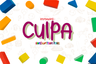 Print on Demand: Culpa Script & Handwritten Font By BaronWNM