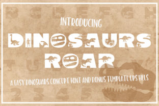 Print on Demand: Dinosaurus Roar Decorative Font By KtwoP