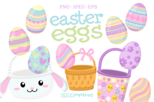 Print on Demand: Easter Egg Clipart Set Graphic Illustrations By DigitalPapers