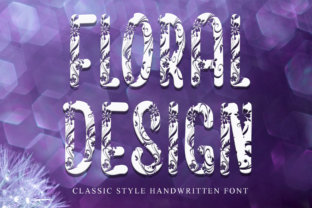 Print on Demand: Floral Design Decorative Font By dazzlinggleam