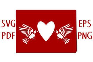 Flying Doves Heart Aperture Card SVG Cut Graphic 3D SVG By Nic Squirrell