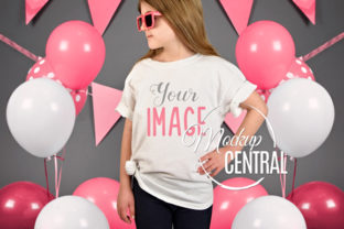 Girls Birthday Party T-Shirt Mockup Graphic Product Mockups By Mockup Central