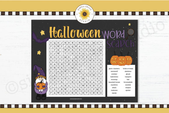 Halloween Word Search Graphic Teaching Materials By Simple Grace Studio