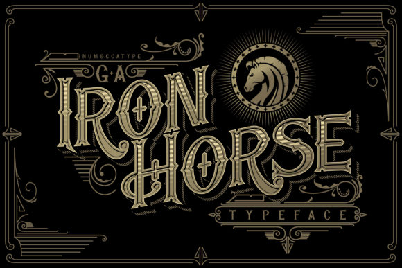 Print on Demand: Iron Horse Blackletter Font By inumocca_type