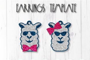 Llama Earrings Template Graphic 3D SVG By ArtiCuties