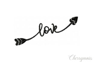 Love Arrow Wedding Quotes Embroidery Design By CherrymoiaEmbroidery