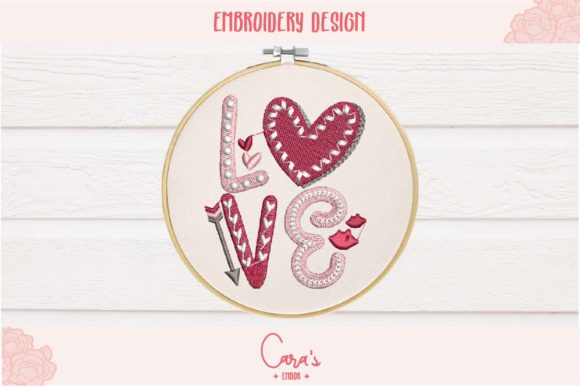 Love Valentine's Day Embroidery Design By carasembor