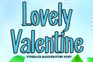 Print on Demand: Lovely Valentine Display Font By dazzlinggleam