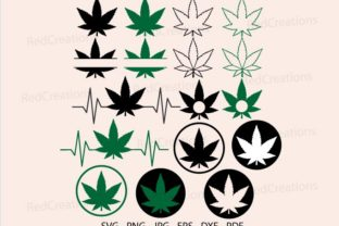 Marijuana Leaf Svg, Weed Leaf, Monogram Graphic Crafts By RedCreations
