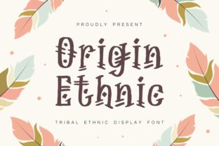 Print on Demand: Origin Ethnic Display Font By Fype Co.
