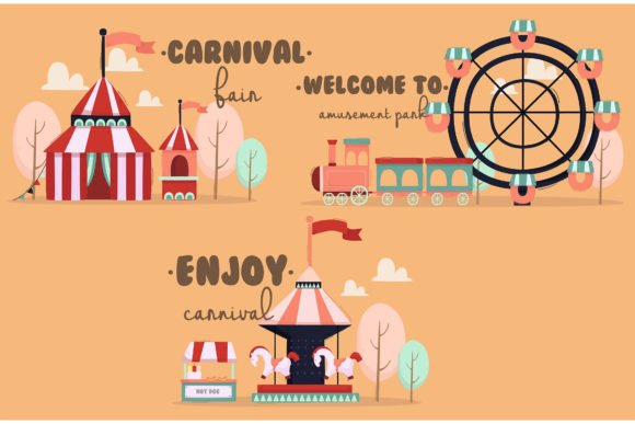 Park with Creative Word Illustration Graphic Illustrations By april_arts