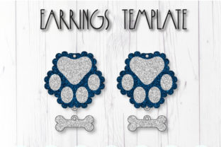 Paw Earrings Template Graphic 3D SVG By ArtiCuties