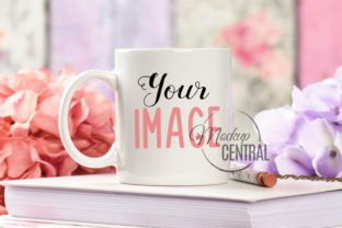 Pretty Digital Cup Mockup on Desk Graphic Product Mockups By Mockup Central
