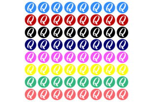 Print on Demand: Q Icon Printable Stickers Graphic Crafts By Printable Store