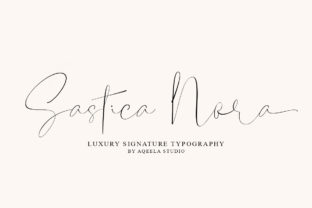 Print on Demand: Sastica Nora Script & Handwritten Font By Aqeela Studio