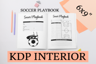 Print on Demand: Soccer Playbook | KDP Interior Graphic KDP Interiors By KDP Mastermind