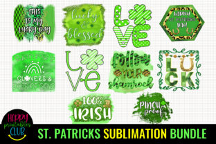 St Patricks Day Sublimation Bundle PNG Graphic Crafts By Happy Printables Club