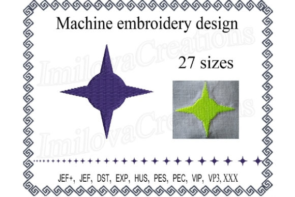 Star Shapes Embroidery Design By ImilovaCreations