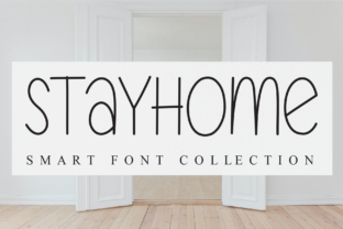 Print on Demand: Stayhome Script & Handwritten Font By andikastudio