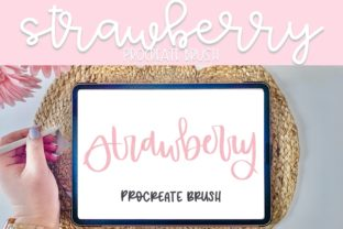 Print on Demand: Strawberry Procreate Brush Graphic Brushes By Fairways and Chalkboards