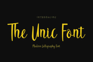 Print on Demand: The Unic Script & Handwritten Font By parawtype