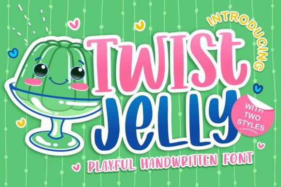 Print on Demand: Twist Jelly Display Font By allouse.studio