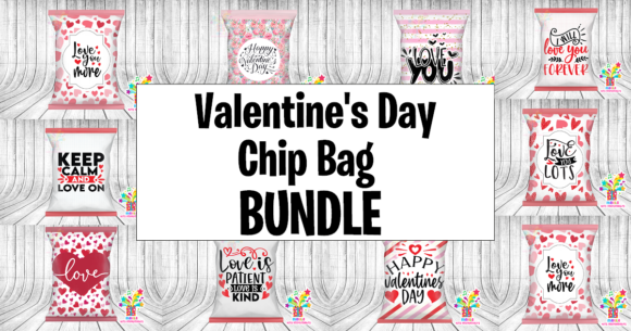 Valentine's Day Chip Bag Bundle  By marilakits