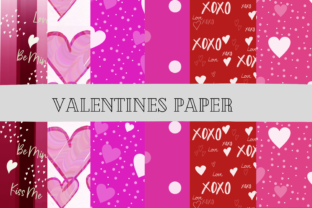 Print on Demand: Valentine's Day Craft Paper Backgrounds Graphic Layer Styles By Daughters inspired designs