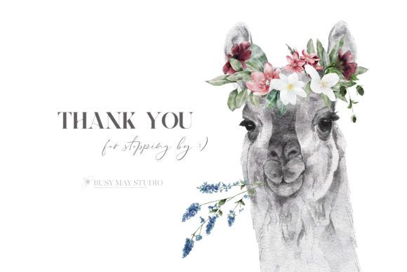 Watercolor Animal Portraits and Flowers Graphic Popular Design