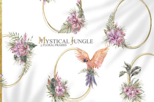 Print on Demand: Watercolor Floral Tropical Frame Clipart Graphic Illustrations By Tiana Geo