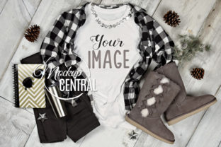 Woman's Winter T-Shirt Mock Up JPG Graphic Product Mockups By Mockup Central
