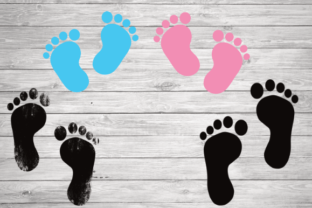 Print on Demand: Baby Footprint, Footprints Graphic Illustrations By rayan