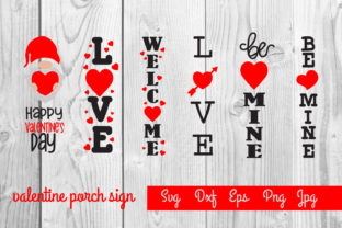 Print on Demand: Valentine Porch Sign, Svg Sublimation Graphic Print Templates By dadan_pm