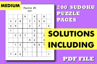 Print on Demand: 200 Medium Sudoku Puzzle Book Pages Kdp Graphic Coloring Pages & Books By KDP INTERIOR DESIGN